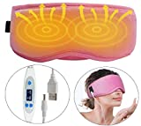 ARRIS Electric USB Heated Eye Mask with 5 Temperature Control, Pink