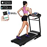 chiclik Home Gym Treadmill Folding Manual Incline 2.25 HP Low Noise Motor Running Machine LCD Screen with Smartphone APP Control