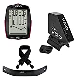 VDO M6.1 Wireless Bicycle Computer Bundle with Cadence Kit and Wireless Heart Rate Monitor