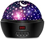 Night Lights for Kids, Multi Colors Star Projector with Timer and Rotation for Kids and Baby Bedroom, Best Night Light to Stimulate Kids Plenty of Imagination (Purely White)