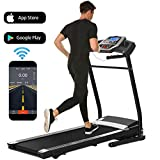 Treadmill for Home Folding Electric Treadmill with Incline Running Machine Exercise Machine for Home Gym Office Smartphone APP Control (Black(2.25HP-APP Control))