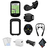 Garmin Edge 530 GPS Cycling/Bike Computer Mountain Bike Bundle with Wrap Around Bluetooth Earbuds + LCD Screen Protectors + USB Adapter and More