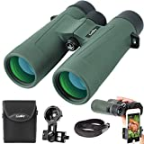 Gosky 10x42 Binoculars for Adults, Ultra HD Professional Binoculars for Bird Watching Travel Stargazing Hunting Concerts Sports-BAK4 Prism FMC Lens-with Phone Mount Strap Carrying Bag