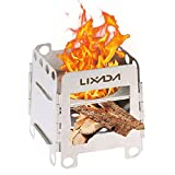 Lixada Camping Stove Portable Stainless Steel Backpacking Stove Wood Burning Stoves for Picnic BBQ Camp Hiking