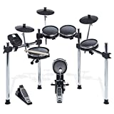 Alesis Surge Mesh Kit | Eight-Piece Electronic Drum Kit with Mesh Heads, Chrome Rack and Surge Drum Module including 40 Kits, 385 sounds 60 Play Aong Tracks and USB/MIDI Connectivity