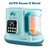 Whale's Love Baby Food Maker 5 in 1 Baby Food Processor Blender Grinder Steamer Warmer Auto Cleaning Organic Healthy Multifunctional Mills Machine for Infants and Toddlers Purees