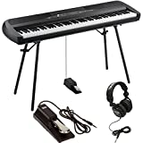 KORG SP-280 BK Digital Piano 88 Key Weighted Hammer Action w/ Stand, Sustain Pedal, Headphones