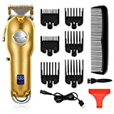 Kemei Mens Hair Clippers for Hair Cutting Professional Cordless Hair Trimmer for Men LED Display
