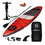 Bright Blue Fusion All Round 11'6' Inflatable Stand Up Paddle Board (6' Thick) with Pump, Paddle,Backpack, Fin,Leash