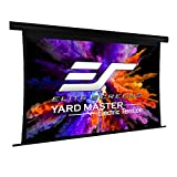 Elite Screens Yard Master Tension Projector Screen, 120-inch 16:9, Outdoor Electric Motorized Automatic Front Rear Dual Projection Movie Screen, OMS120HT-ELECTRODUAL | US Based Company 2-YEAR WARRANTY