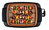 BELLA Indoor Smokeless Grill, 12 x 16 Inch Copper Titanium Coated Nonstick Cooking Surface, Multifunction Grill & Skillet
