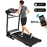 ANCHEER Folding Treadmill, Treadmills for Home with Bluetooth,12 Preset Programs Electric Motorized Running Machine with Smartphone APP Control for Home Office Gym Cardio Fitness