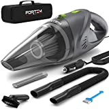 FORTEM Car Vacuum Cleaner 120W, 4500 PA Suction, 16 ft Power Cord, Steel Washable Filter, Carry Bag