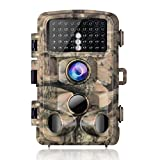 """Campark Trail Camera-Waterproof 16MP 1080P Game Hunting Scouting Cam with 3 Infrared Sensors for Wildlife Monitoring with 120°Detecting Range Motion Activated Night Vision 2.4"""" LCD 42pcs"""