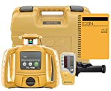 Topcon RL-H5B Self Leveling Horizontal Rotary Laser with Bonus EDEN Field Book  IP66 Rating Drop, Dust, Water Resistant  400m Construction Laser  Includes LS-80L Receiver, Detector Holder, Soft Case