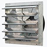 iLiving - 20' Wall Mounted Exhaust Fan - Automatic Shutter - Variable Speed - Vent Fan For Home Attic, Shed, or Garage Ventilation