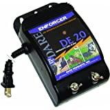 Dare Products Enforcer DE20 Ultra Low Impedance 110V Plug-In Electric Fence Energizer For Dogs and Garden Animals, Controls Upto 1 Acre Of Clear Fence, 0.05 Joules Output, Black