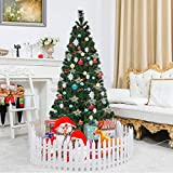 Toolsempire Artificial Fiber Optic 3/4/5/6 Ft Green Christmas Tree Spruce Tree with Stand Perfect for Indoor Holiday Decoration (6 feet)