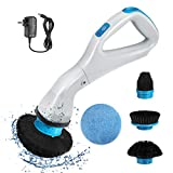 VINER Electric Spin Scrubber, Handheld Wireless High-Speed Spin Rechargeable Scrubber with 4 Brush Heads, Replaceable Cleaning Brush Heads for Cleaning Bathrooms, Kitchens, Windows