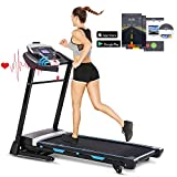 FUNMILY 3.25HP Automatic Incline Treadmill, Folding Treadmill with Bluetooth Speaker, Walking Jogging Running Machine with APP Control for Home Gym (T900)