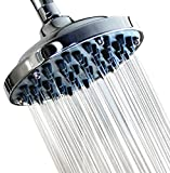 """6"""" Fixed Shower head -High Pressure Showerhead Chrome - Powerful Shower Spray against Low water flow - Anti-clog Anti-leak - DISASSEMBLY CAPACITY - Adjustable Metal Swivel Ball Joint with Filter"""