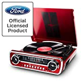 ION Audio-Ford LP-4-in-1 Classic Car Styled Music Center, Red (Mustang LP)