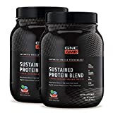 GNC AMP Sustained Protein Blend - Fruity Crisps, Twin Pack, 28 Servings Each, 25 Grams of High-Quality Protein