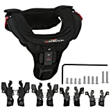 RIDBIKER Motocross Neck Brace for Adult Motorcycle Cycling Protector Guard Off-Road Riding Body Protection Gears (Black)