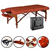 Master Massage 31' Santana LX Portable Massage Table Package, Memory Foam Reiki Mountain Red
