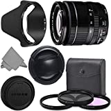 FUJIFILM XF 18-55mm f/2.8-4 R LM OIS Wide Angle Lens (16276479) + AOM Pro Kit Combo Bundle – Fuji 18-55mm X-Mount Zoom Kit Lens - International Version