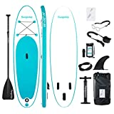 Soopotay Inflatable SUP Stand Up Paddle Board, Inflatable SUP Board, iSUP Package with All Accessories (Aqua, 10' x 32'' x 6'')