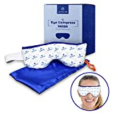Eye Mask for Dry Eyes, Moist Heat Eye Compress Pad for Pink Eye, Blepharitis, Puffy Eyes, MGD, Stye Treatment Relief | Microwaveable Warm Compress for Eyes (Blue)