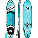GILI All Around Inflatable Stand Up Paddle Board Package   10'6 Long x 31' Wide x 6' Thick   Lightweight & Durable SUP   Stable & Wide Stance (Teal)