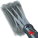 Kona 360 Clean Grill Brush - A Clean Grill in 30 Seconds Or Less - 18 inch Best BBQ Brush - Stainless Steel 3-in-1 Grill Cleaner for Effortless Cleaning