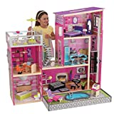 KidKraft Uptown Wooden Modern Dollhouse with Lights & Sounds, Pool and 36 Accessories, Gift for Ages 3+