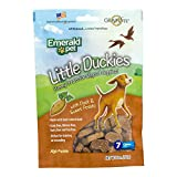 Emerald Pet - Dog Treats for Small and Large Dogs, Duck and Sweet Potato, All-Natural Real Meat, Mini Training Treats, High Protein, Grain-Free (Little Duckies, Duck, Sweet Potato, 5 Ounce)