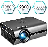 Projector, CiBest Video Projector 170' Display Portable Mini LED Home Theater Entertainment Projector1080P Supported, Compatible with PS4, HDMI, VGA, TF, AV and USB