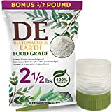 EasyGoProducts Diatomaceous Earth - 100% Natural Food Grade - DE Fresh Water - 2.5 Pounds- with Powder Duster