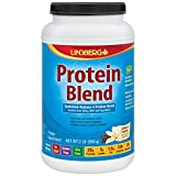 Lindberg Protein Blend - from Whey, Milk and Egg White - Sustained Release 4-Protein Blend - No Artificial Sweeteners or Flavors (2 Pounds, Natural Vanilla)