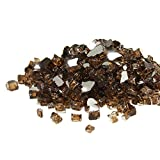 Golden Flame 10-Pound x 1/2-Inch (Fire Glass) Rich-Copper Reflective Reflective