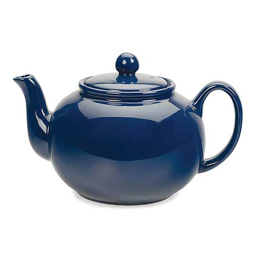 Best Teapots For Keeping Tea Hot 5. RSVP Stoneware Teapot, 48 oz, Blue