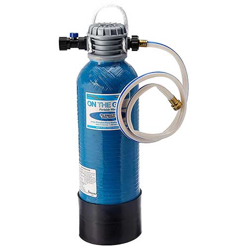 Best Water Softeners for Well Water With Iron 10. On The Go OTG3NTP3M PORTABLE WATER SOFTENER