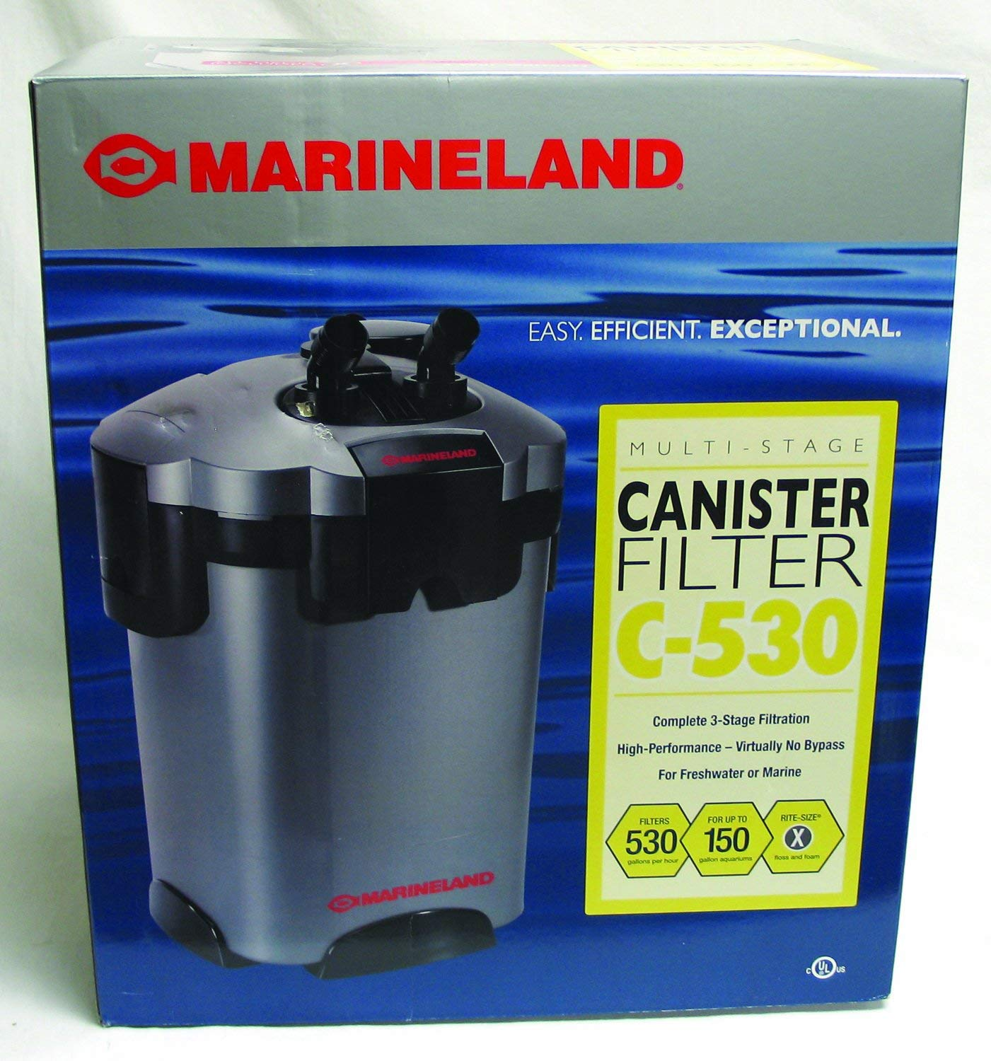 Best Aquarium Filters for Large Tanks 8. MarineLand Multi-Stage Canister Filter for Aquariums, C-Series