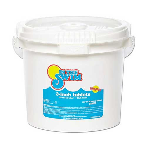 Best Chlorine Tablets for Swimming Pools 2. In The Swim 3 Inch Pool Chlorine Tablets 25 lbs.