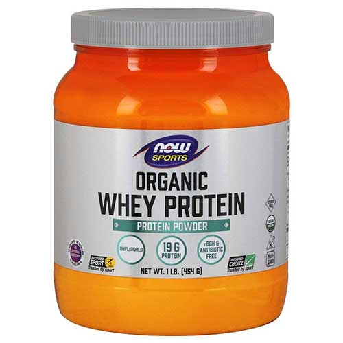 Best Whey Protein Organic 6. NOW Sports Organic Whey Protein Natural Unflavored,1-Pound