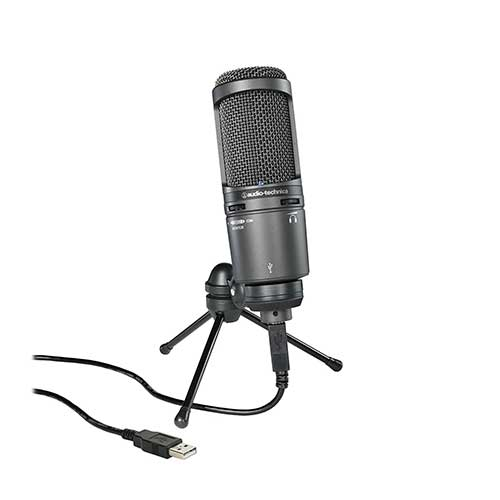 Best Mic for Vocals Under 200 5. Audio-Technica AT2020USB+ Cardioid Condenser USB Microphone, Black