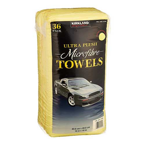 Best Microfiber Towels For Drying Car 7. Kirkland Signature Ultra High Pile Premium Microfiber Towels (36-Pack)