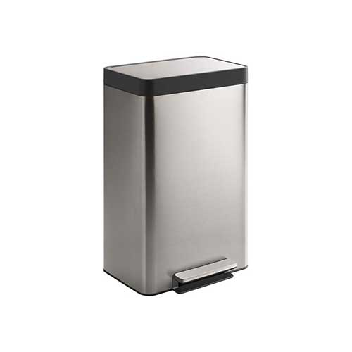 Best Kitchen Trash Cans 5. Kohler 20940-ST 13-Gallon Stainless Trash Can, Stainless Steel