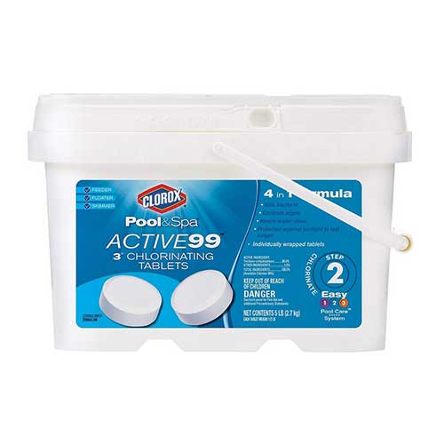 Best Chlorine Tablets for Swimming Pools 1. CLOROX Pool & Spa 22005CLXW Active99 3