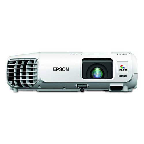 Best Projectors for Business Presentations 10. Epson V11H694020 PowerLite S27 SVGA 3LCD Projector 2700 Lumens 800 x 600 Pixels 1.35x Zoom White